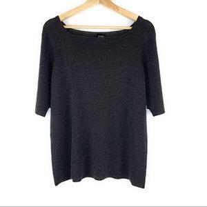 Eileen Fisher Square Neckline Wool Sweater